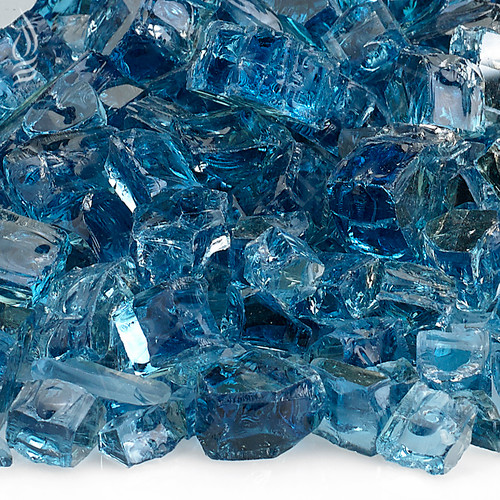 1/2 inch Pacific Blue Reflecting Premium Fire Glass