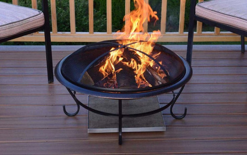 ... Deck Protect 24 inch by 24 inch Fire Pit Pad and Rack 1 ... - Deck Protect 24 Inch By 24 Inch Fire Pit Deck Pad And Rack - DP3002