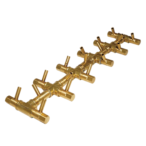 "Warming Trends Crossfire CFBT170 - 5"" x 22"" Tree-Style Brass Burner System"