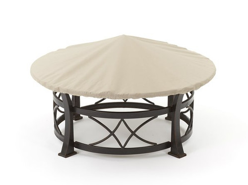 Round Fire Pit Cover - Durable Khaki or Charcoal - 30 - 36 inches