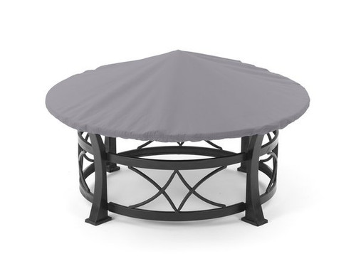 Round Fire Pit Cover - Durable Khaki or Charcoal - 54-60 inches 51