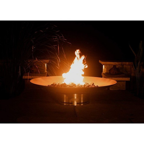 "Fire Pit Art Bella Vita 70"" Stainless Steel Natural Gas or LP Gas Fire Pit - BV70GAS"