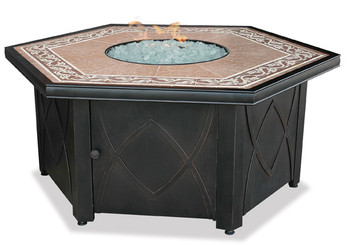 Blue Rhino Uniflame Propane Fire Pit Table Decorative
