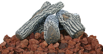 Blue Rhino Unflame Lava Rock And Log Kit For Outdoor