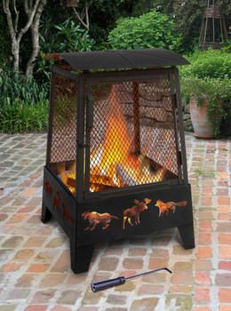 Landmann Haywood Wildlife Sturdy Steel Fire Pit 25319