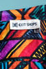 silk blouse top abstract stripe print short sleeves vintage 90s SMALL MEDIUM S M