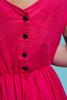 plus size vintage pocket dress dark pink cotton midi sleeveless casual 80s XL 1X extra large