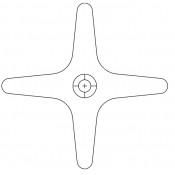 Acorn 2290-001-199 Flo-Cloz Hot Cross Handle Only