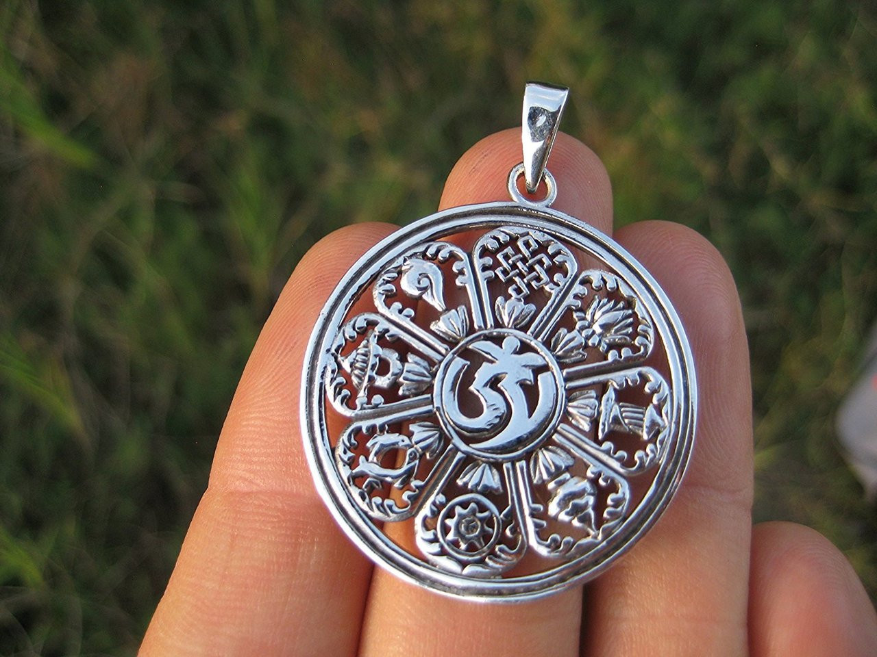 unique unisex necklace filigree wicca pin universe spiritual crescent dangle round moon pendant