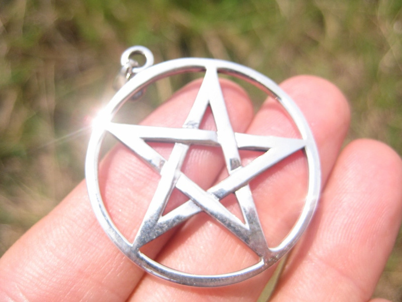Extra large 925 sterling silver wicca inverted pentagram pendant extra large 925 sterling silver wicca inverted pentagram pendant necklace a2 aloadofball Choice Image