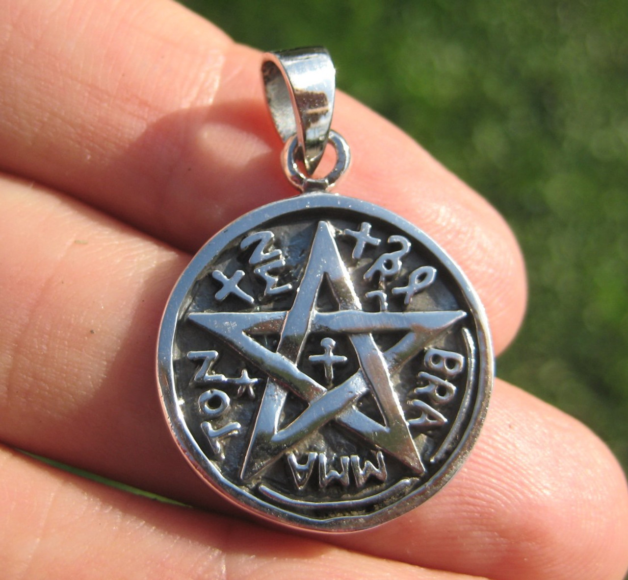 925 sterling silver wicca pentagram pendant necklace a42 everest 925 sterling silver wicca pentagram pendant necklace a42 aloadofball Choice Image