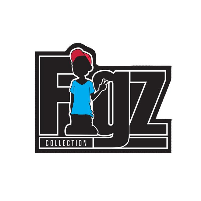 Figz stickers figz logo sticker black