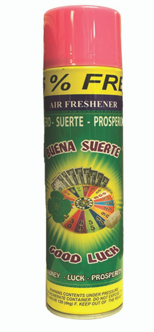 religious and esoteric air freshener o spray para limpias buena suerte