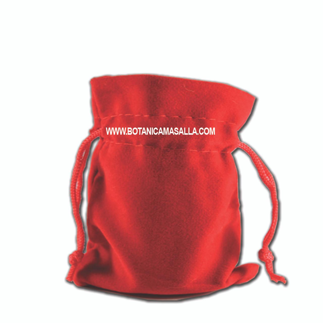 Esta bolsita es usada para guardar resguardo o protecciones es de 3x3 pulgadas, puede escoger entre verde y roja. Solo manejamos estos dos colores