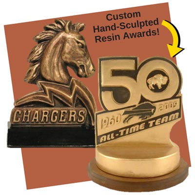 Custom Sculpted Resin Trophies