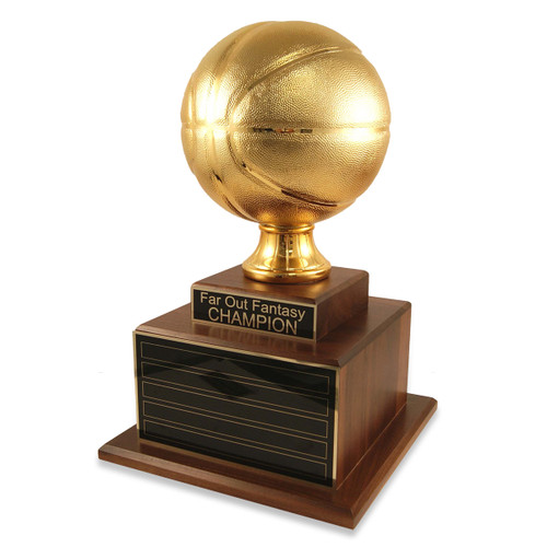 Perpetual Deluxe Gold Basketball Trophy