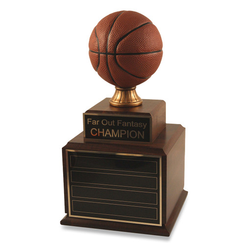 Perpetual Wood Fantasy Basketball Trophy