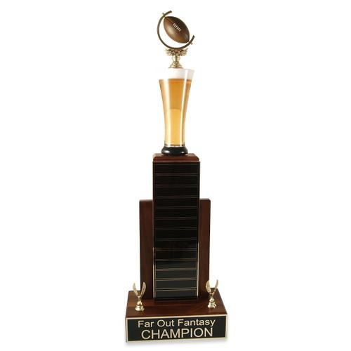 Large MVP Beer Football Trophy
