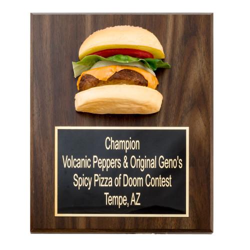 Burger Plaque Award