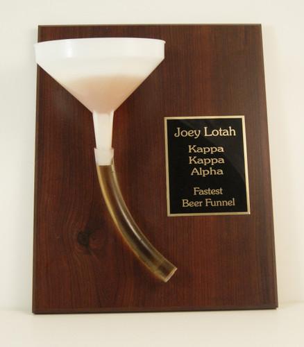 Beer Funnel Award Plaque