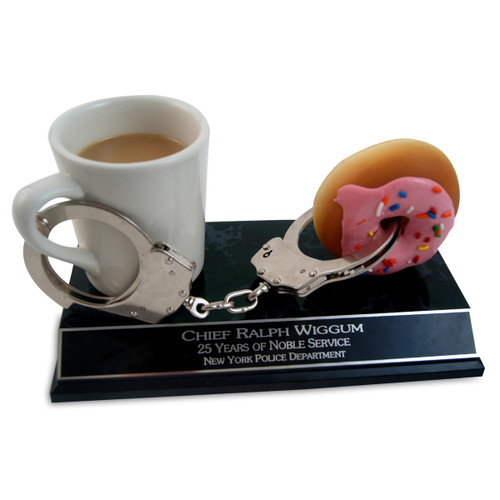 Coffee and Doughnut Police Trophy