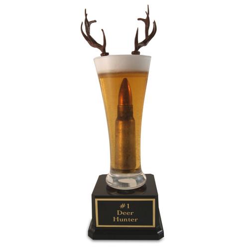 Deer Hunting  Bullet in Beer Trophy