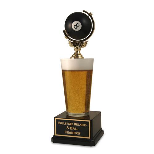 Pool 8-Ball Pint Beer Trophy