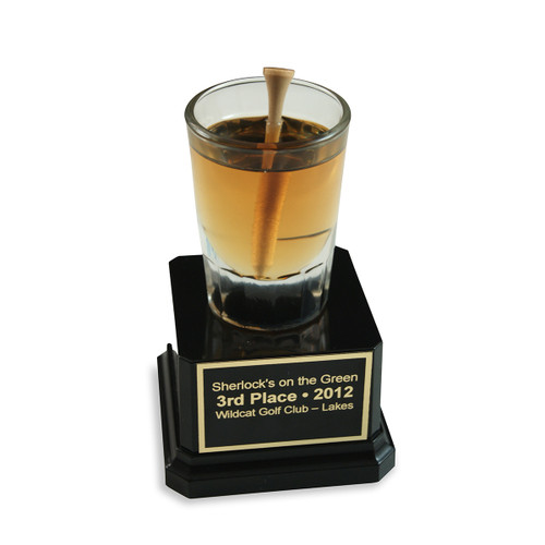 Shot Glass with Golf Tee Trophy