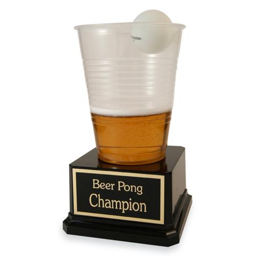 Plastic Beer Pong Trophy
