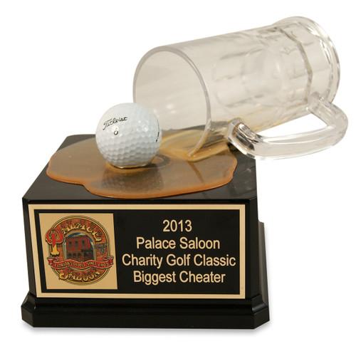 Golfer's Spilled Beer Mug Trophy