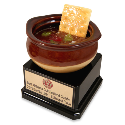 Gumbo Trophy with Cracker