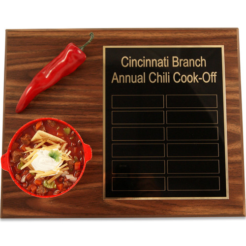 Chili Pepper Bowl Cook Off Plaque