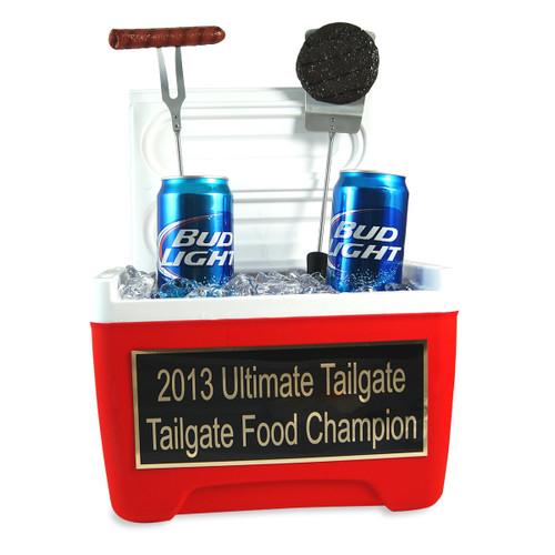 Tailgate BBQ Burger Hotdog Cooler Trophy