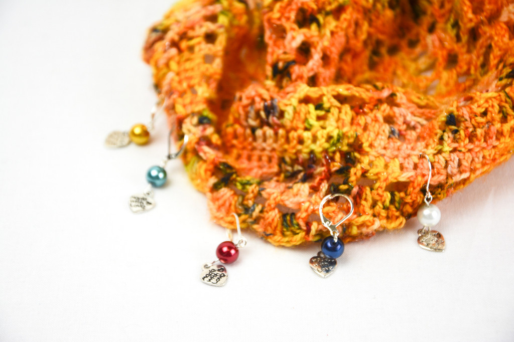 Pealised bead stitch markers