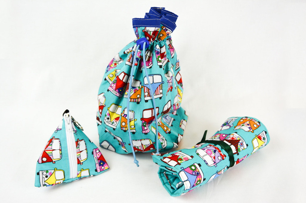 Camper Van bag, roll & pouch set