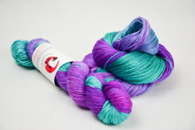 Peacock on silk