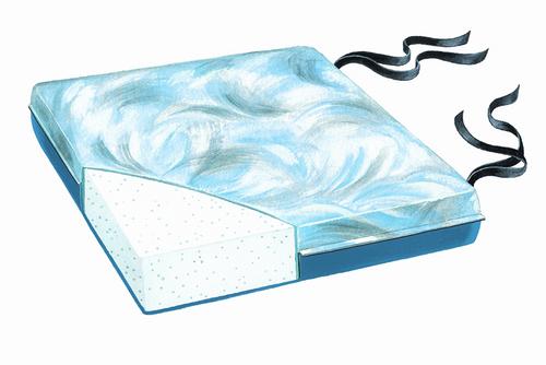 "Comfort Foam 18"" Bimini Blue Vinyl Cushion, 3""H"