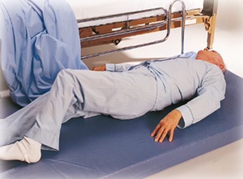 """Soft-Fall Bedside Non-Folding Fall Mat, 2""""H"""