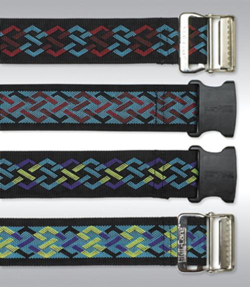 Nylon Gait Belt, Delrin Buckle - Geo Pattern B