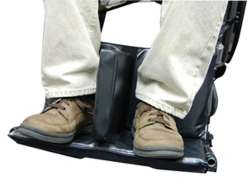 "Footrest Extender, w/1.5"" Leg Separator"