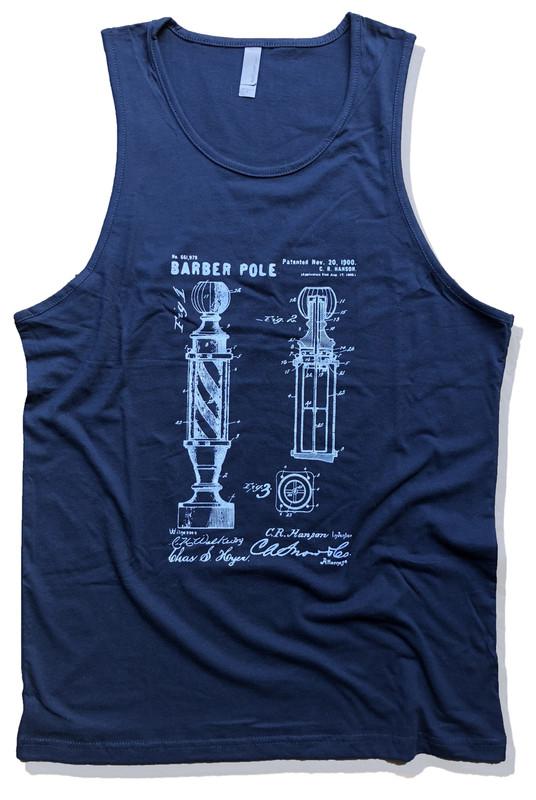 Barber Pole Patent Art Tank