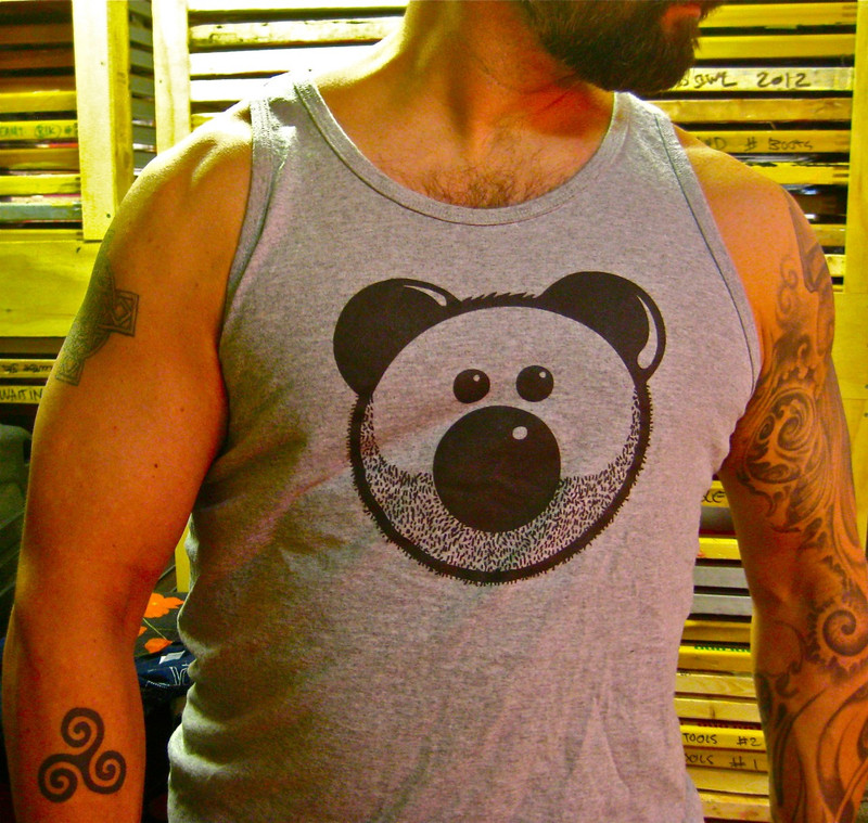 BEARDY BEAR GREY TANK