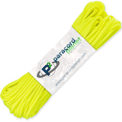 paracord planet neon yellow 550 paracord