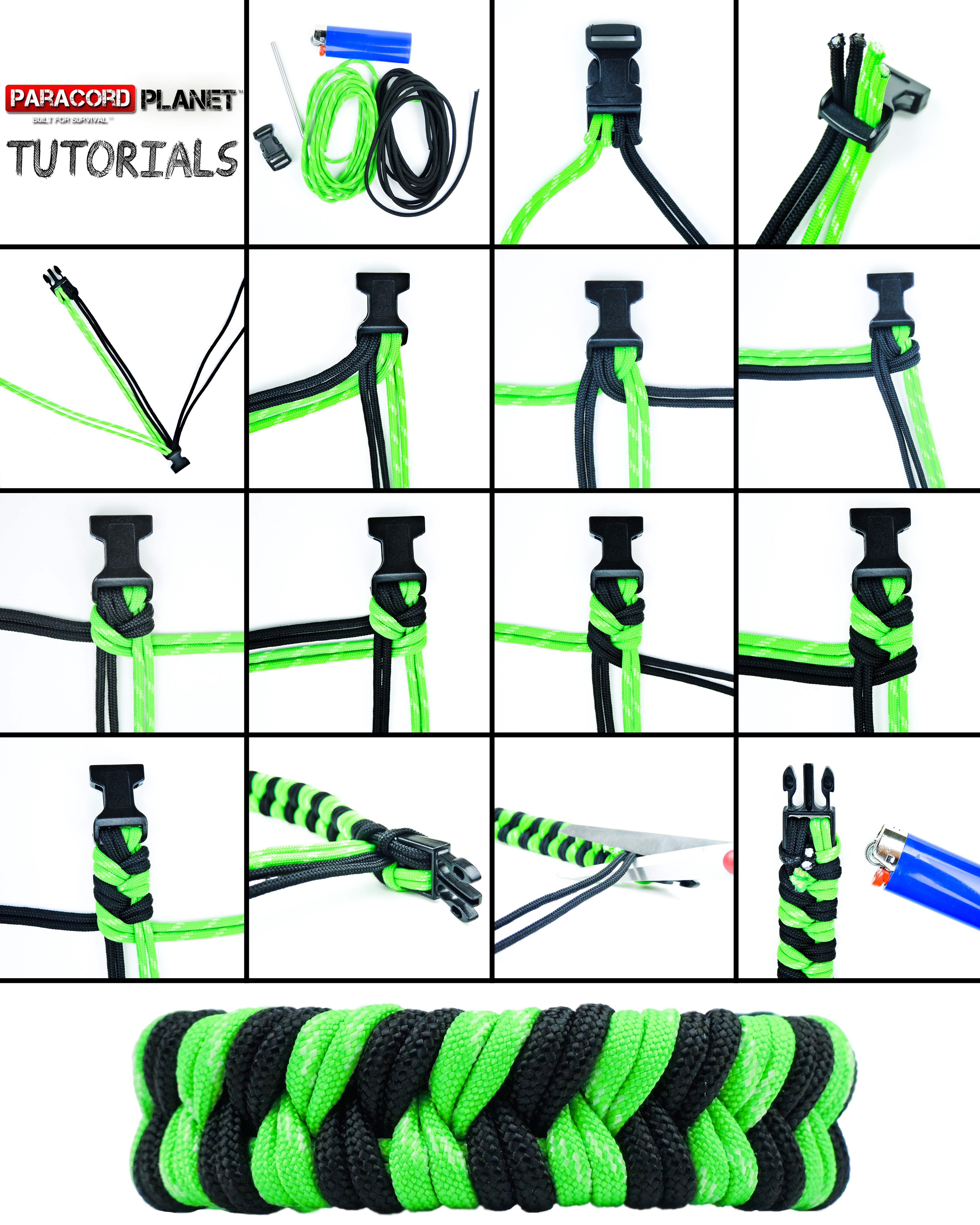 How to make a Double Fishtail paracord bracelet photo tutorial