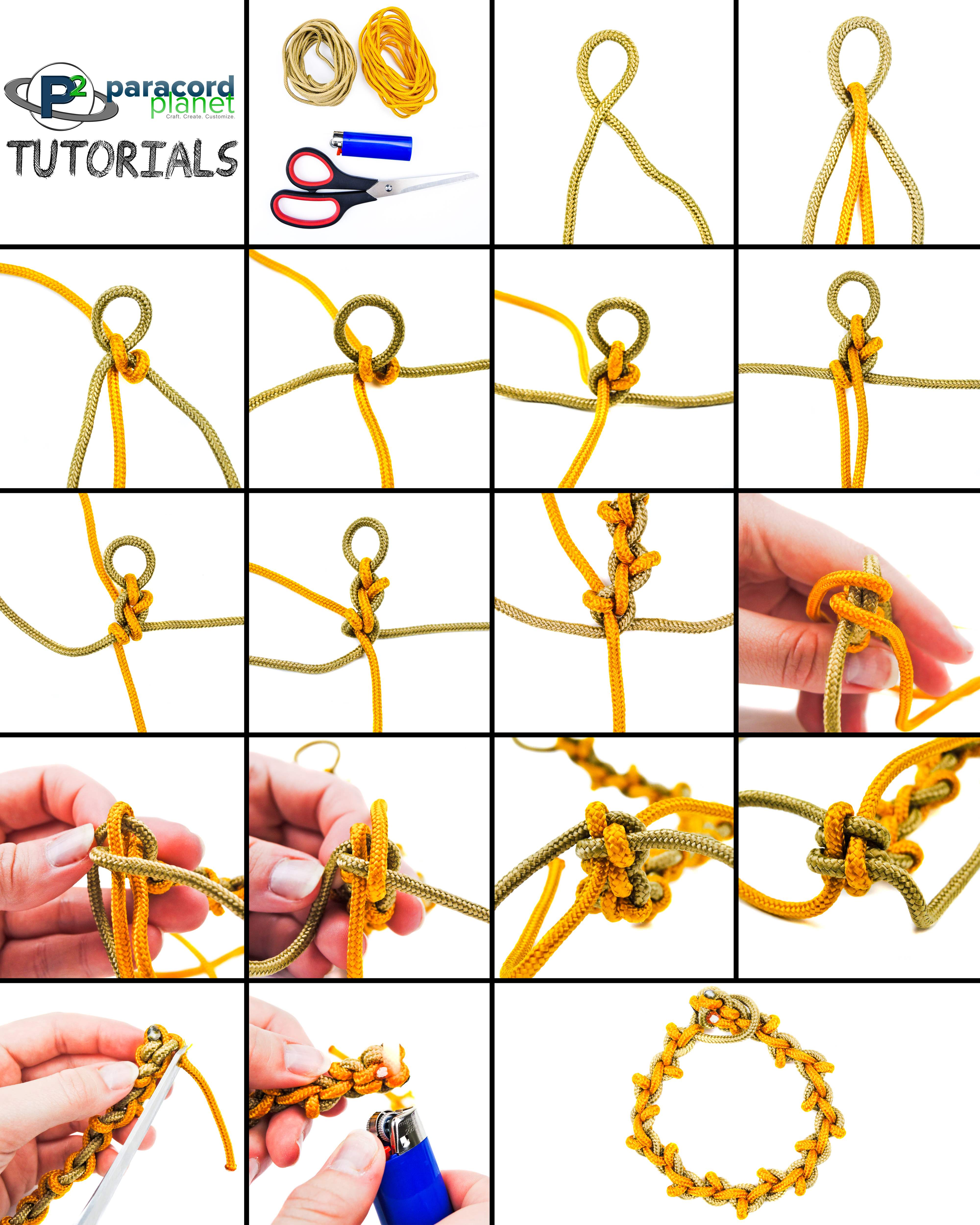 Paracord Wheat Stalk Bracelet photo tutorial