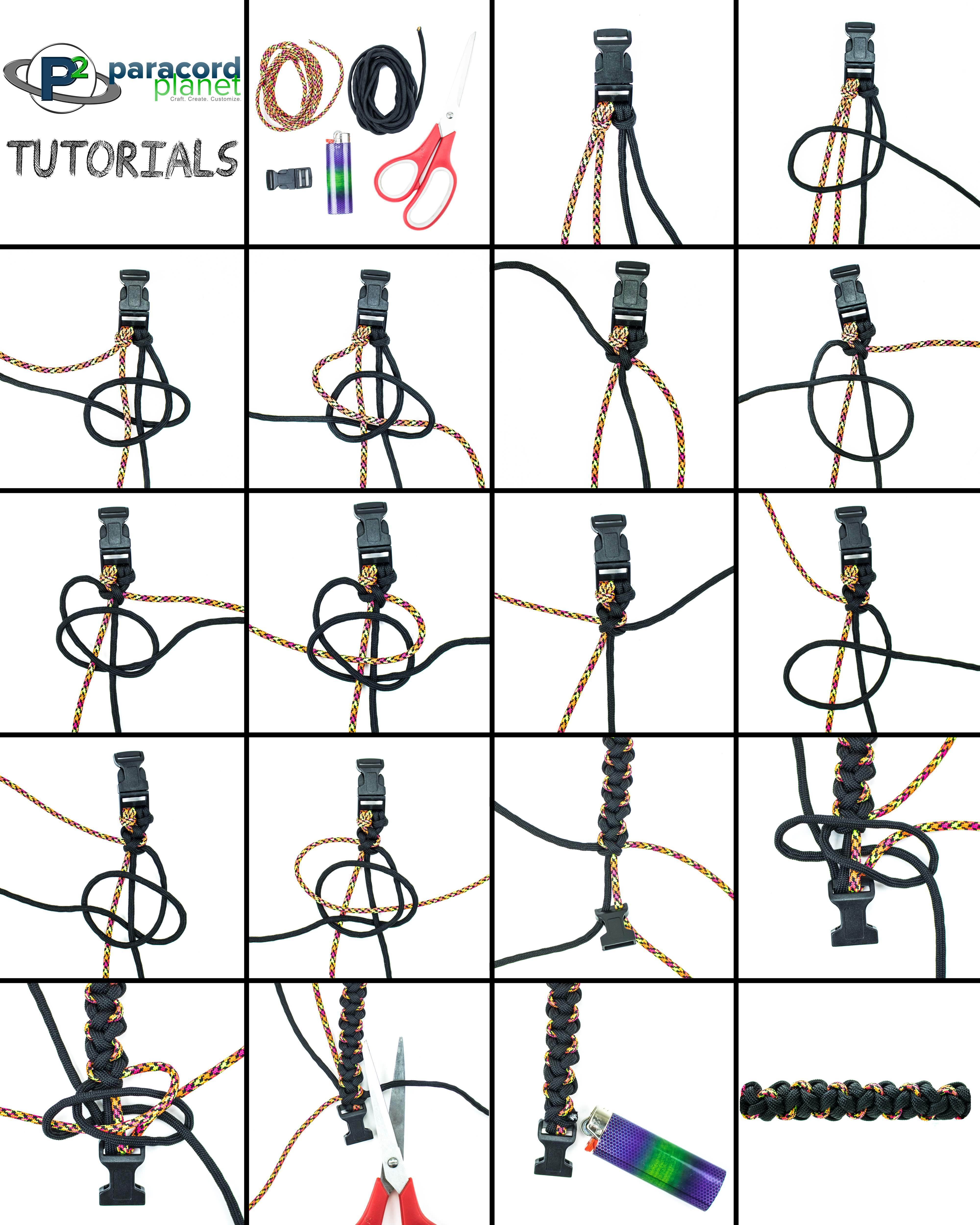 Paracord Cross Crooked River Bar bracelet photo tutorial