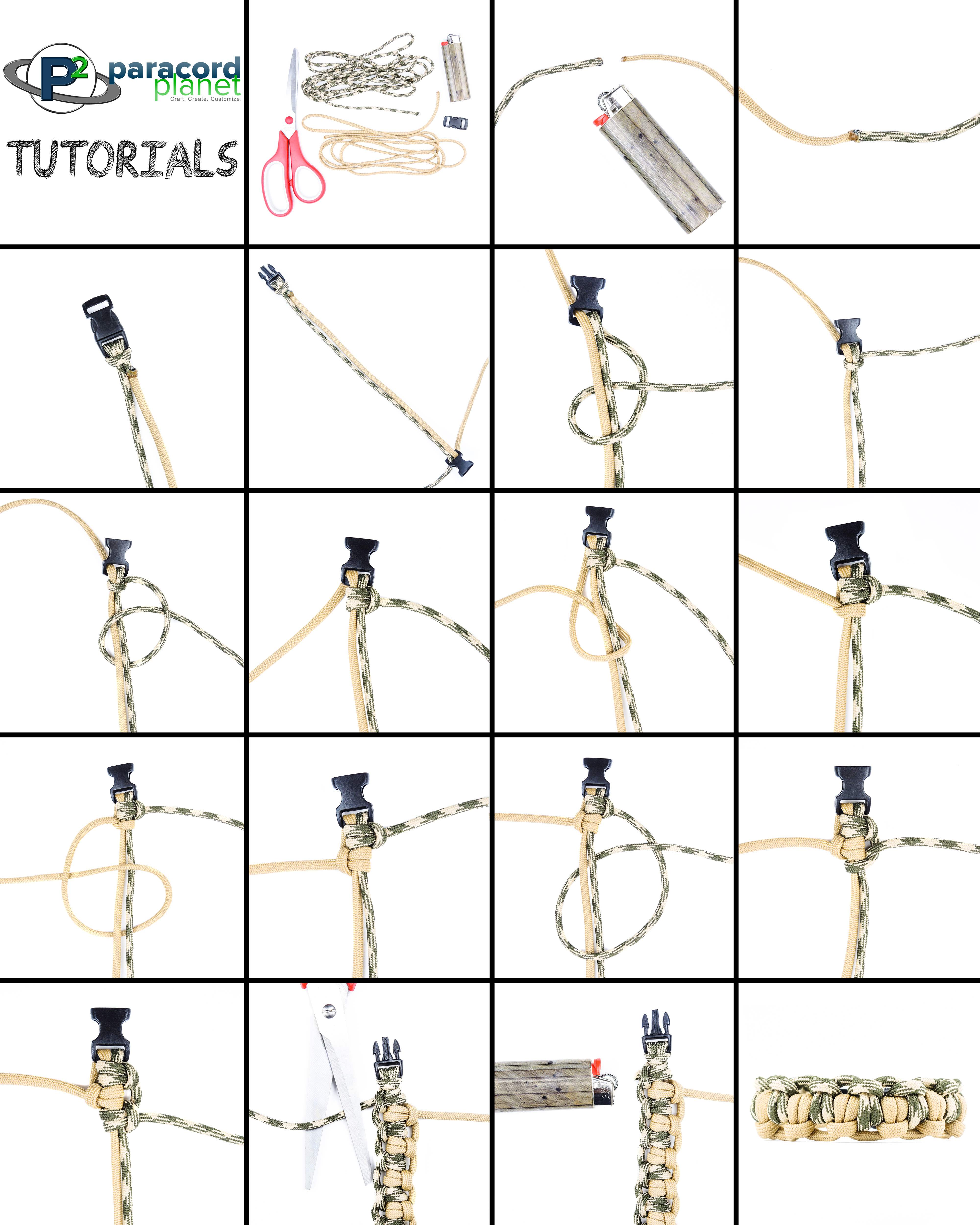 Paracord Double Tatted Bar Bracelet photo tutorial