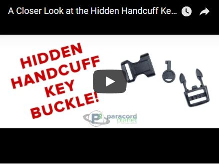 A Closer Look at the Hidden Handcuff Key Buckle - Paracord Planet