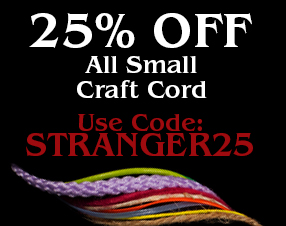 Stranger Strings. 25% Off all small craft cord