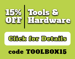 Take 15% Off Tools and Hardware